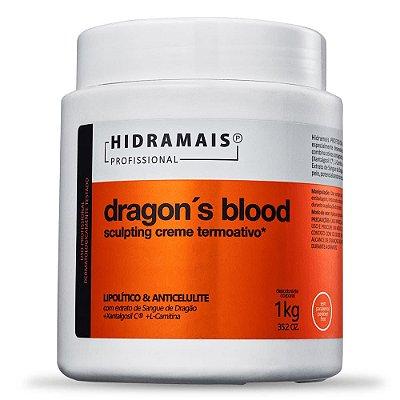 Creme Termoativo Dragon´s Blood Sculpting Hidramais 1Kg Lipolítico e Anticelulite.