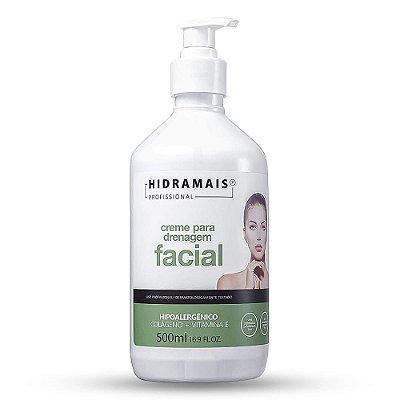 Creme Para Drenagem Facial Hipoalergênico Com Colágeno 500ml Hidramais