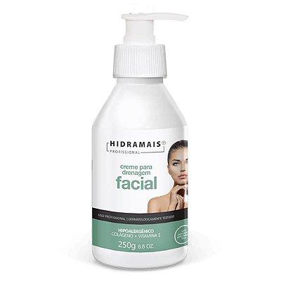 Creme Para Drenagem Facial Hipoalergênico Com Colágeno 250ml Hidramais
