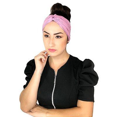 Turbante Feminino HeadBand Liso Vida De Micropigmentador Rosa