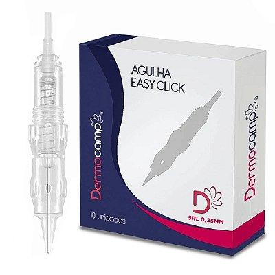 Agulhas Dermocamp Easy Click C/Mola 5RL Pontas 0.25mm Caixa Com 10 Unidades