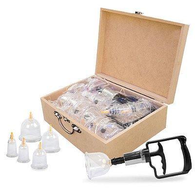 Kit Com 12 Ventosas De Acrílico Com Aplicador Luxo Estek