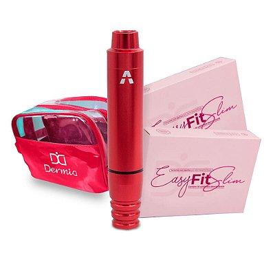 Aston Pen Create Vermelho Maquina Rotativa De Micropigmentacao e Tatuagem