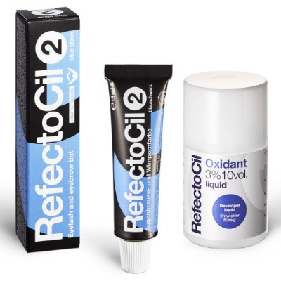 Kit Refectocil 1 Tinta Preto Azulado N°2  + 1 Oxidante 100ml