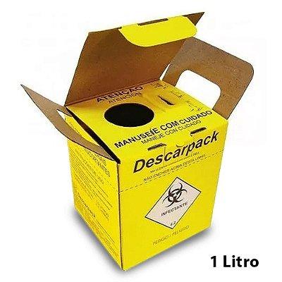 Caixa Coletor Descarpack 1,5l Perfurocortante