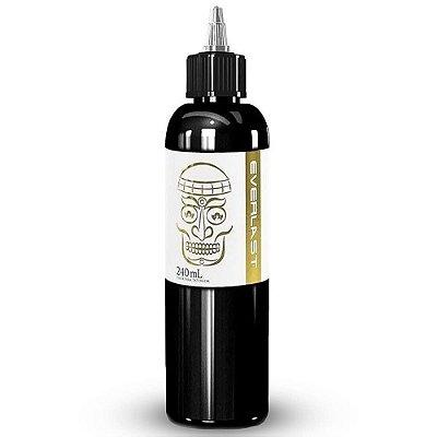 Tinta De Tatuagem Everlast Preto Linha Outliner Black Electric Ink 240ml