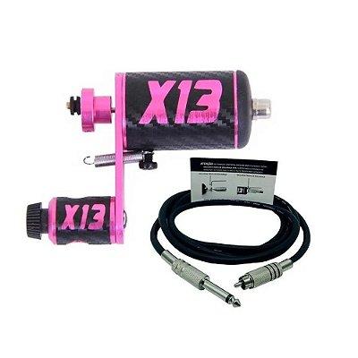 Maquina Hibrida X13 Pink X Top + Cabo Rca Tatuagem