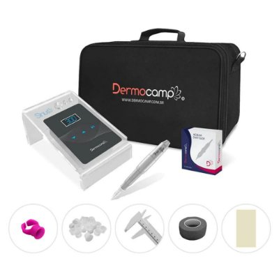 Combo Dermografo Sharp 300 Pro + Controle Digital Sirius Dark