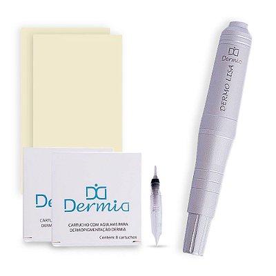 Dermografo Dermo Lisa Dermia + Controle Digital Para Micropigmentacao
