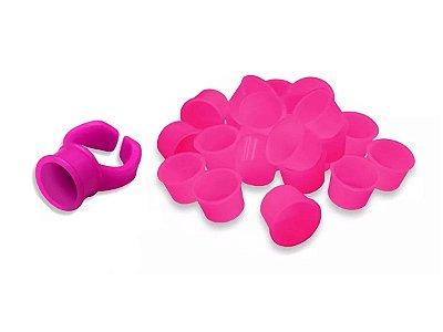 Kit 50 Batoques Descartaveis Rosa + 1 Anel De Micropigmentacao rosa