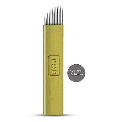 Kit 10 Laminas Dermia 12 Hard 0,18mm Microblading Tebori