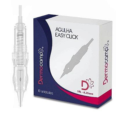 Agulhas Dermocamp Easy Click C/Mola 1RL Ponta 0.25mm - Caixa Com 10 Unidades