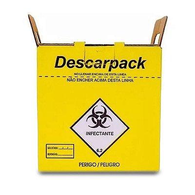 20 Caixas Coletor Descarpack 3l Perfurocortante