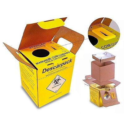 20 Caixas Coletor Descarpack 1,5l Perfurocortante
