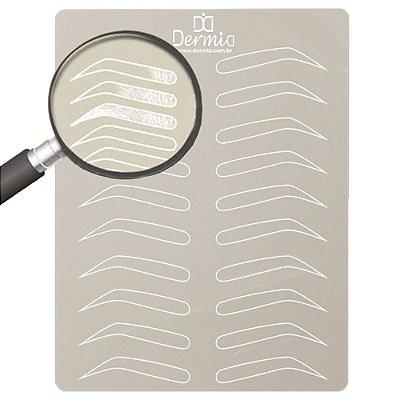 Pele Sintetica Pigmentada Para Treino De Sobrancelhas Dermia