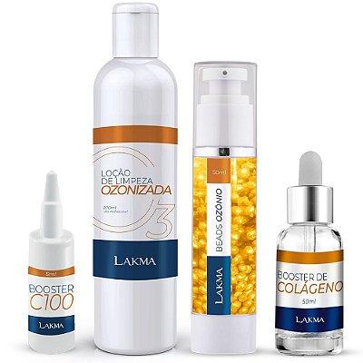 Kit Ozônio Premium Rejuvenescedor Facial 4 Passos Lakma