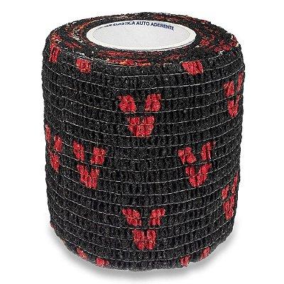 Bandagem Antiderrapante Para Dermografo E Pen - Preto Com Vermelho Aston