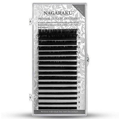 Cílios Para Alongamento Fio A Fio Nagaraku Mix De 0.07D Premium