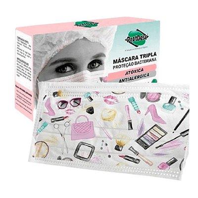 Mascara Descartavel Prot Fashion Beauty Protdesc Caixa Com 20 Unidades