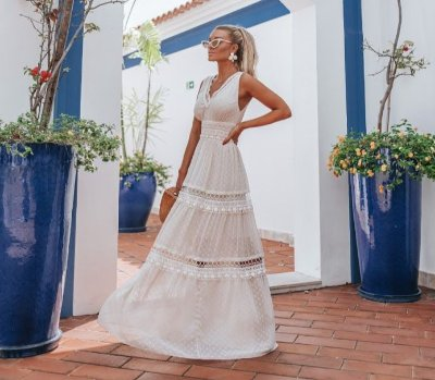 OCEAN VIEWS | VESTIDO LONG LACE Código: SS983