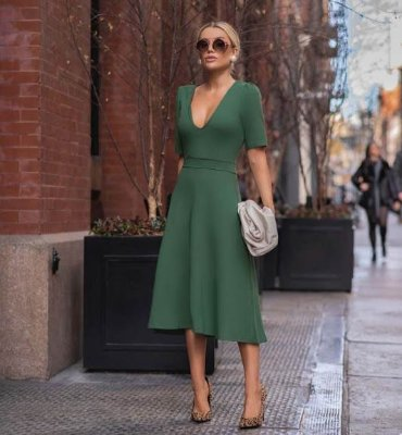 NYC COLLECTION | VESTIDO MIDI ANNIE - COR: VERDE - Código: KM141143