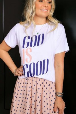 BLESSED ART/ T-SHIRT GOD IS GOOD |  Código: KM141316