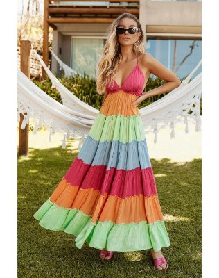 Ave Rara - VESTIDO STRIPE FOIL COLOR OPVL0474