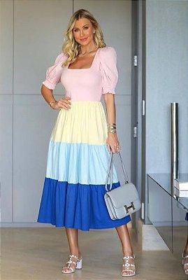DROPS OF  JOY / Vestido CREAMY RAINBOW - malha de algodão  |  Código: KM141326