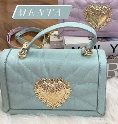 Bolsa de Couro legítimo  / cor: MENTA /   inspiration  Dolce & Gabbana - 100% couro / Feita no Brasil