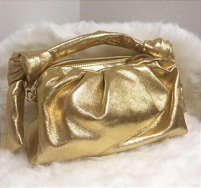 Bolsa de Couro legítimo  / cor: Ouro Metalizado /   inspiration  - 100% couro / Feita no Brasil