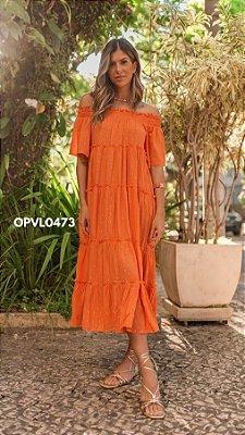 Ave Rara - VESTIDO PEQUIM VIBES - LARANJA -  OPVL0473