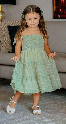 VESTIDO INFANTIL BLESSINHA FANTINE VERDE | RIVIERA FRANCESA Código: KM141434v