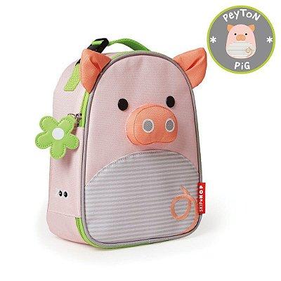 Lancheira Porquinha Peyton Pig Skip Hop Infantil