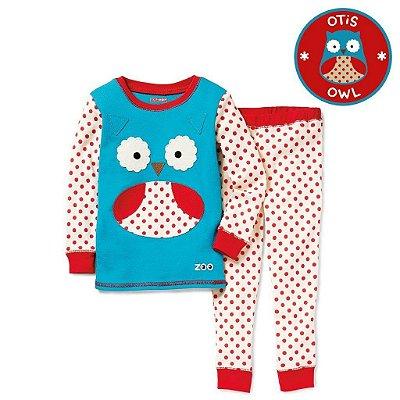 Pijama Linha Zoo Skip Hop Zoojamas Tema Coruja Otis Owl