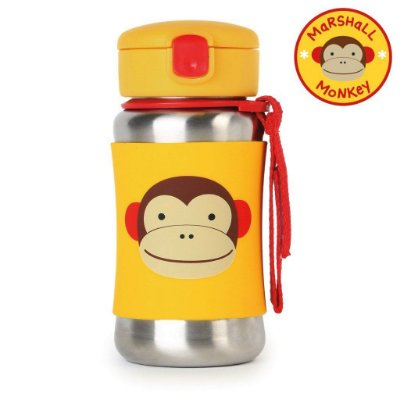 Garrafinha em Inox Skip Hop Linha Zoo Macaco Marshal Monkey