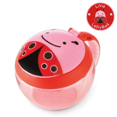 Potinho de Lanche Snack Skip Hop Linha Zoo Joaninha Livie Ladybug