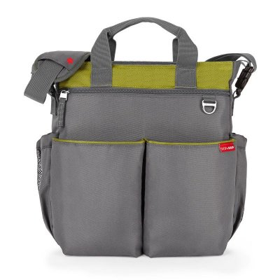 Bolsa Maternidade Diaper Bag Duo Signature Grey Green Charcoal Lime Skip Hop