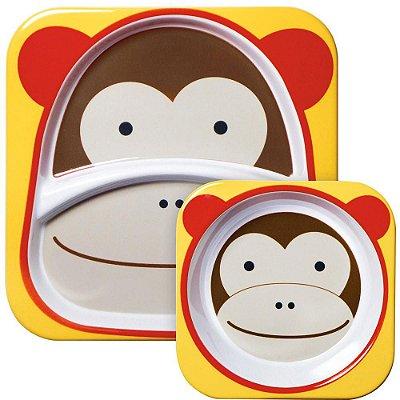 Set de Pratos Skip Hop Linha Zoo Macaco Marshal Monkey