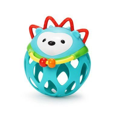 Mordedor Roll Around Porco Espinho Hedgehog Skip Hop Brinquedo para Bebe com Chocalho