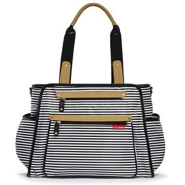 Bolsa Maternidade Diaper Bag Skip Hop Grand Central Black Stripe