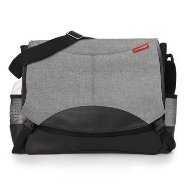Bolsa Maternidade Diaper Bag Skip Hop Swift Messenger Heather Grey Cinza