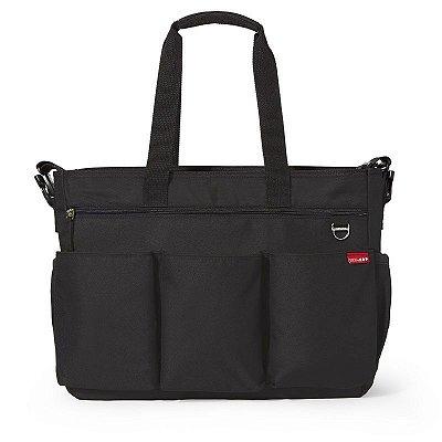Bolsa Maternidade Skip Hop Diaper Bag Duo Double Signature Black Preta
