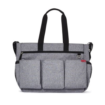 Bolsa Maternidade Skip Hop Diaper Bag Duo Double Signature Heather Grey Cinza