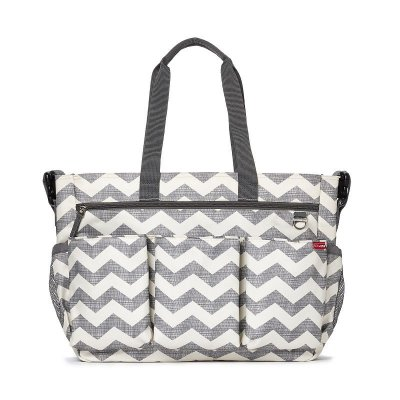 Bolsa Maternidade Skip Hop Diaper Bag Duo Double Signature Chevron