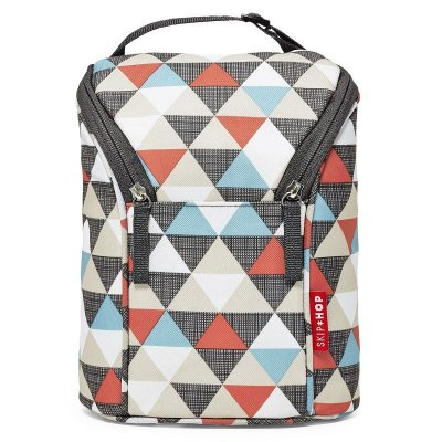 Bolsa Térmica para Mamadeira Double Bottle Bag Skip Hop Triangles Triangulos