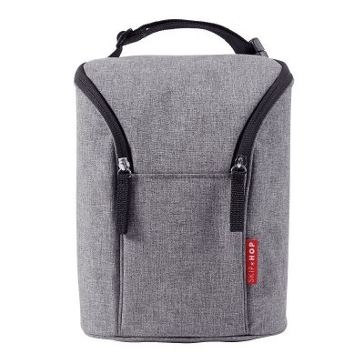 Bolsa Térmica para Mamadeira Double Bottle Bag Skip Hop Heather Grey Cinza