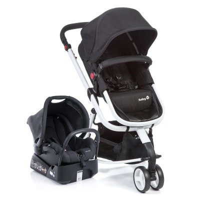 Carrinho de Bebe Travel System Mobi Safety 1st Black and White