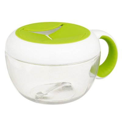 Pote de Lanche com Tampa Removível Infantil FLIPPY SNACK CUP Oxotot 230ml Verde