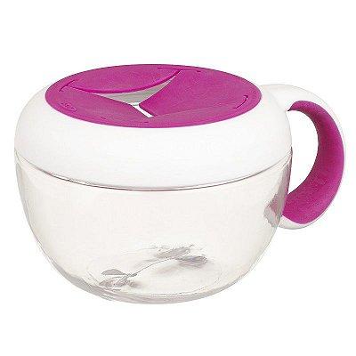 Pote de Lanche com Tampa Removível Infantil FLIPPY SNACK CUP Oxotot 230ml Rosa