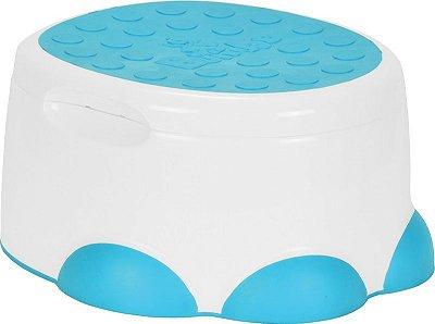 Penico 3 em 1 Assento Redutor e Banquinho Bumbo Azul